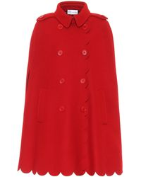 RED Valentino Wool-blend Cape - Red