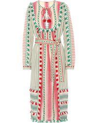 Dodo Bar Or - Tasselled Cotton Gauze Dress - Lyst