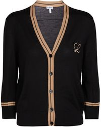 Loewe Merino Wool Cardigan - Black