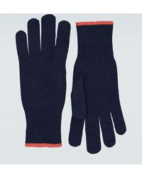 Brunello Cucinelli Cashmere Gloves - Blue