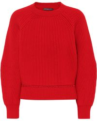 Alexander McQueen Wool And Cashmere Sweater - Red