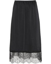 Valentino Monochrome Skirt - Black