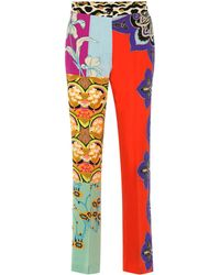 Etro Bedruckte Hose aus Seide - Mehrfarbig