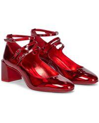Christian Louboutin Salones Mary Jane Vernica 55 de piel - Rojo