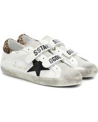 Golden Goose Deluxe Brand Sneakers Old School aus Leder - Weiß