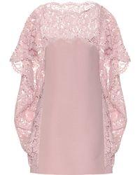 Valentino Minikleid mit Spitze - Pink