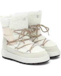 Bogner Ankle Boots Chamonix 3 mit Shearling - Weiß