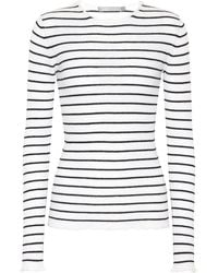 Vince - Striped Cashmere Top - Lyst