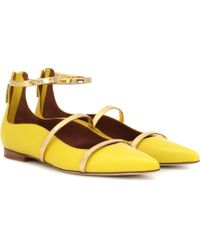 Malone Souliers - Robyn Flat Leather Ballet Flats - Lyst