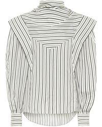 Isabel Marant Bianca Striped Silk-twill Blouse - Multicolour