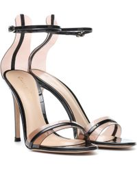 Gianvito Rossi G-string 105 Patent-leather Sandals - Black