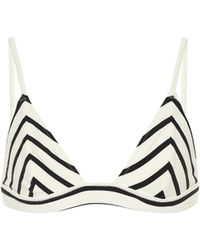 Solid & Striped Gestreiftes Bikini-Oberteil The Morgan - Schwarz