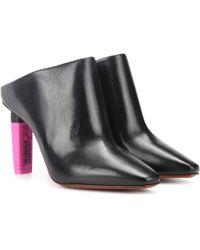 Vetements Leather Mules - Black