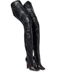 Vetements Bottes cuissardes en cuir - Noir