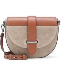Brunello Cucinelli Suede And Leather Crossbody Bag - Brown