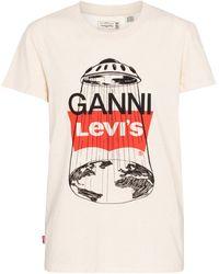 Ganni X Levi's® T-Shirt aus Baumwolle und Hanf - Mehrfarbig