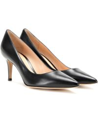 Gianvito Rossi - Gianvito 70 Leather Court Shoes - Lyst