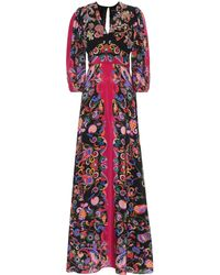 Etro Sequined Paisley Silk Dress - Black