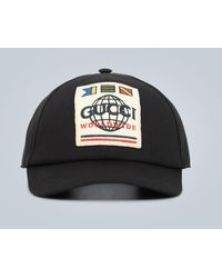 Gucci Worldwide Logo Baseball Cap - Black