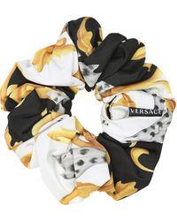 Versace Scrunchie aus Seide - Mehrfarbig