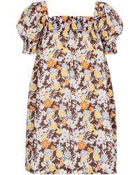 Tory Burch Vestido corto de algodón floral - Multicolor