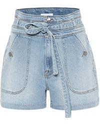 FRAME Short Triple en jean - Bleu