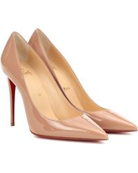 Christian Louboutin Pigalle 85 Patent Calf Nude - Natural