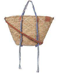 Zimmermann Macrame Woven Basket Straw Tote - Natural