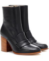 Loewe Ankle Boots aus Leder - Schwarz