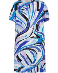 Emilio Pucci Exclusive To Mytheresa – Printed Silk Minidress - Blue