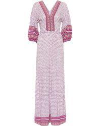 Poupette Mya Floral Maxi Dress - Purple