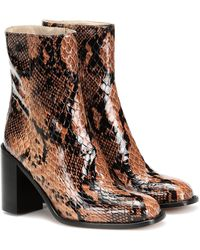 Maryam Nassir Zadeh Mars Snake-effect Leather Ankle Boots - Brown