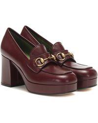 Gucci Horsebit Leather Loafer Pumps - Multicolor