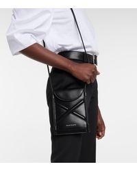 Alexander McQueen Sac à bandoulière The Curve Micro en cuir - Noir