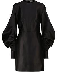 Tom Ford Vestido corto de seda - Negro