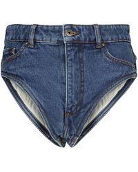 Y. Project Short en jean - Bleu
