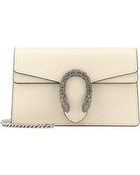 Gucci Dionysus Leather Clutch - Natural