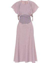Rosie Assoulin Vestido Venn Diagram de lana - Rosa