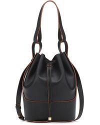 Loewe Sac porté épaule en cuir Balloon medium - Noir