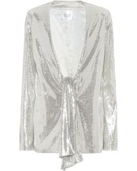 Galvan London Ando Sequined Jacket - Metallic