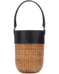 Kayu Lucie Leather-trimmed Bucket Bag - Natural