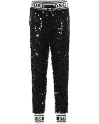 Dolce & Gabbana Sequined Trackpants - Black