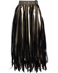 Sacai High-rise Cotton-blend Midi Skirt - Black