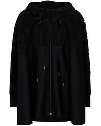 Valentino Lace-trimmed Hoodie - Black