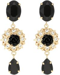 Dolce & Gabbana Hängeohrringe Mit Zierelementen - Mettallic