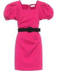 Rebecca Vallance Vestido corto Andie con cinturón - Multicolor