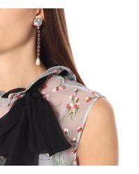 Miu Miu Exclusivité Mytheresa – Boucles d'oreilles clip à cristaux - Rose