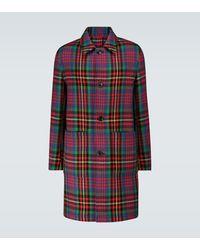 AMI Tartan Wool Coat - Multicolour
