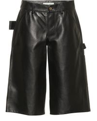 Bottega Veneta Leather Shorts - Black