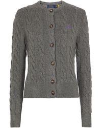 Polo Ralph Lauren Cardigan aus Wolle und Kaschmir - Grau